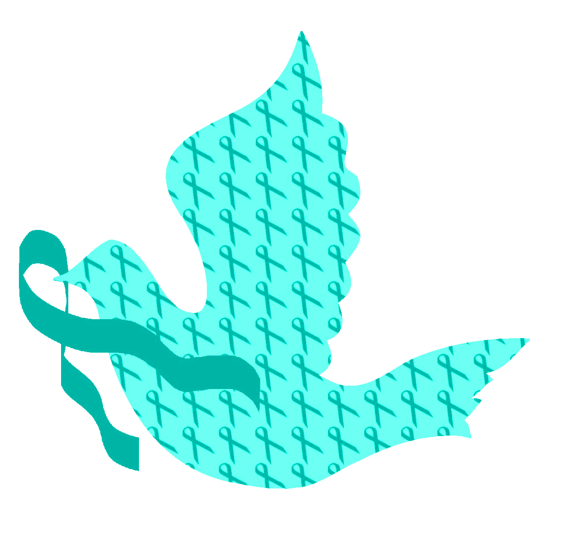 Dove of Hope Teal Ribbon